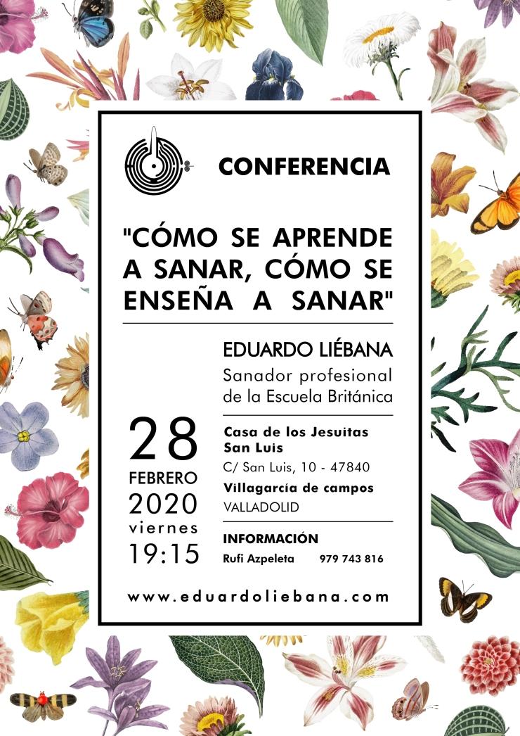 2020 Conferencia Eduardo liébana un sanador Valladolid 1